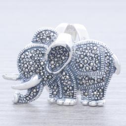 Anillo Plata Marquesita Mamá Elefante en Plata de Ley 925
