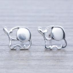Pendiente Plata Elefante en Plata de Ley 925