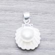 Colgante Plata Concha con perla cultivada en Plata de Ley 925