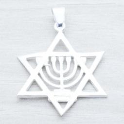 Colgante Plata Estrella de David en Plata de Ley 925