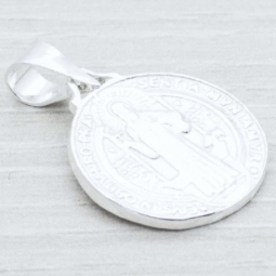 Colgante Plata Medalla San Benito Plata de Ley 925
