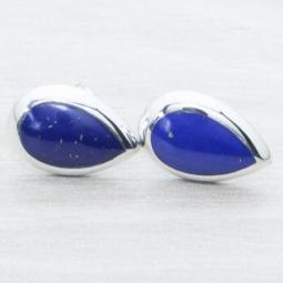 Pendiente Plata Lapiz Lazuli Plata de Ley 925