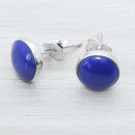 Pendiente Plata Lapiz Lazuli en Plata de Ley 925