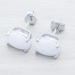 Pendiente Plata Rod.Piedra Opalo Plata de Ley 925