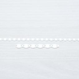 Cadena Oval Diamantada Plata de Ley 925