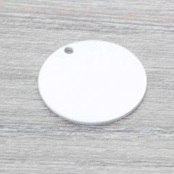 Chapa Rodiado p/Grabar Plata de Ley 925