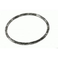 Pulsera Rígida oxidada Mod. 40395 en Plata de Ley 925