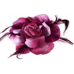 Flores en tela con plumas Mod.21 0053