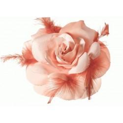 Flores en tela con plumas Mod.21 0054