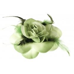 Flores en tela con plumas Mod.21 0056