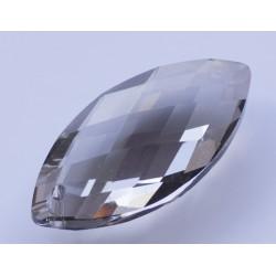 Abalorio de cristal Gota color humo Mod.21806