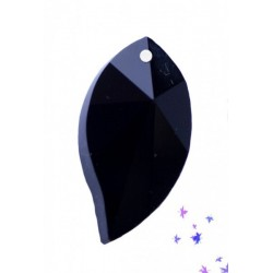 Abalorio de cristal Hoja color Negro Mod.21807