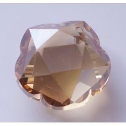 Abalorio de cristal Flor color Dorado claro Mod.21809 1