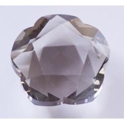 Abalorio de cristal Flor color Humo Mod.21809 2