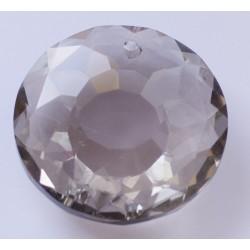 Abalorio de cristal Redondo color Humo Mod.21810 2