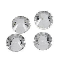 100 Unidades de Cristal para pegar con plancha Blanco Mod.21940 1