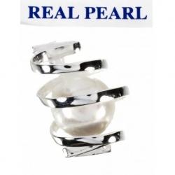 Colgante Perla Real Cultivada entrelazado en Plata