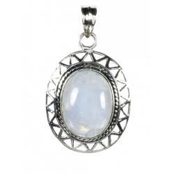 Colgante Oval Ornamenta Piedra Luna Mod. 50096 en Plata