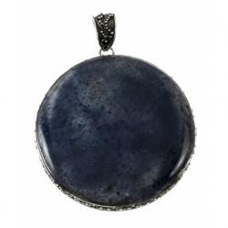 Colgante Piedra Azul Oxido Mod. 50584 en Plata