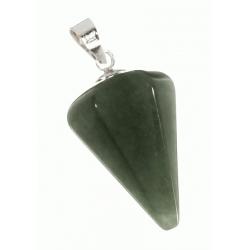 Colgante Plata y Piedra Indú Péndulo en Jade Mod.50746 en Plata