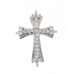 Colgante Swarovski cruz en Plata