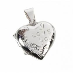 Colgante Corazón porta foto en Plata