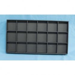 Caja polipiel apilable 24 compartimientos