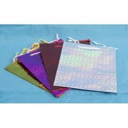 Bolsa c/asa colores metalizados ch. 8x11 cm