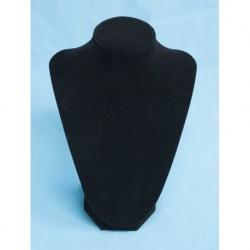 Expositor Collar Terciopelo negro en 21cm