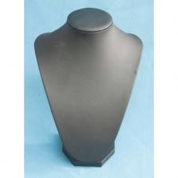 Expositor Collar Polipiel negro en 21cm