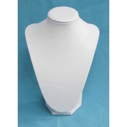 Expositor Collar Polipiel blanco en 21cm