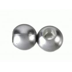 100 Unid. Bola Resina perlada hueco grande plata mate Mod.21932 4