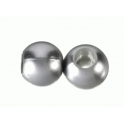 Bola Resina perlada hueco grande plata mate Mod.21937 4