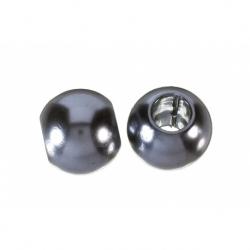 Bola Resina perlada hueco grande gris plomo Mod.21937 6
