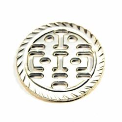 Colg. Diseño Inca grde.color plata Mod.21668 P