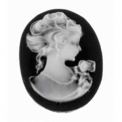 Abalorio de resina Camafeo grde. Mod.21967