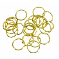 30 grs. de Arandela metal color oro Mod.21108 7X7 O
