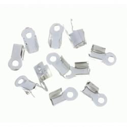 100 Unid. Terminal para cordon de 3 mm color plata Mod.21109 P