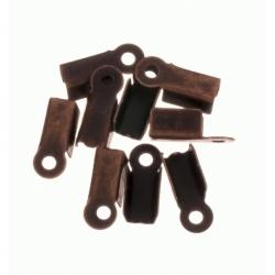100 Unid. Terminal para cordon de 3,5 mm color bronce Mod.21358 B
