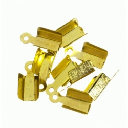 100 Unid. Terminal para cordon de 3,5 mm color oro Mod.21358 O