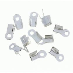 100 Unid. Terminal para cordon de 3,5 mm color plata Mod.21358 P