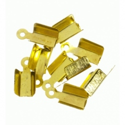 100 Unid. Terminal para cordon de 4,5 mm color oro Mod.21359 O