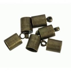 100 Unid. Terminal para cordon de 4,5mm color bronce Mod.21852 B