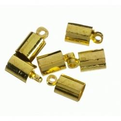 100 Unid. Terminal para cordon de 2 mm color oro Mod.21843 O