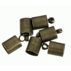 100 Unid. Terminal para cordon de 5,5mm color bronce Mod.21853 B
