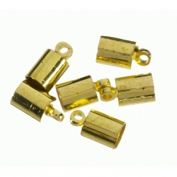 100 Unid. Terminal para cordon de 3 mm color oro Mod.21844 O