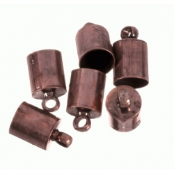 100 Unid. Terminal para cordon de 3 mm color cobre Mod.21361