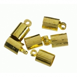 Terminal para cordon de 4 mm color oro Mod.21846