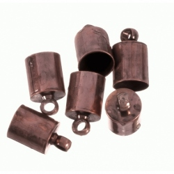 Terminal para cordon de 4 mm color cobre Mod.21362