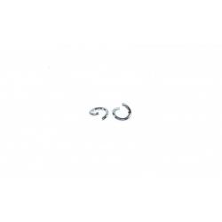 Arandela Abierta 6,7 mm en Plata de Ley 925